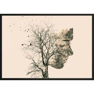 Plagát DecoKing Girl Silhouette Tree, 50 x 40 cm vyobraziť