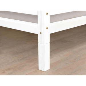 Súprava 4 bielych predĺžených nôh k posteli zo smrekového dreva Benlemi, výška 20 cm vyobraziť