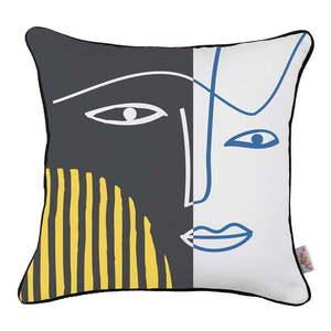 Obliečka na vankúš Mike & Co. NEW YORK Dark Abstract Face, 43 × 43 cm vyobraziť
