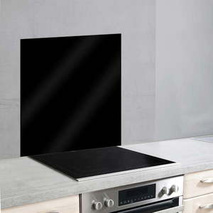 Čierny sklenený kryt na stenu pri sporáku Wenko, 70 × 60 cm vyobraziť