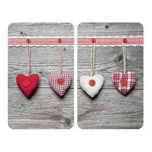 Sada 2 sklenených krytov na sporák Wenko Heart vyobraziť