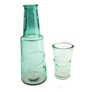Zelená sklenená karafa s pohárom, 800 ml vyobraziť