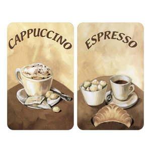 Sada 2 sklenených krytov na sporák Wenko Coffee vyobraziť