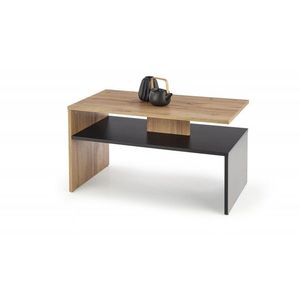 Konferenčný stolík SIGMA dyha Halmar Dub wotan / čierna vyobraziť