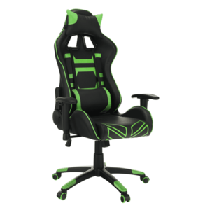 Kancelárske/herné kreslo, čierna/zelená, BILGI vyobraziť