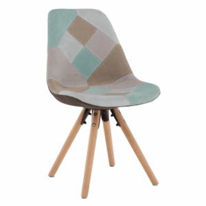 Jedálenská stolička, patchwork mentol/hnedá, GLORIA vyobraziť