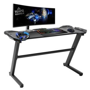 PC stôl/herný stôl, čierna, JADIS vyobraziť