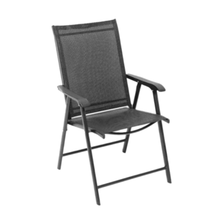 Skladacia zahradná stolička, čierna, Adola vyobraziť