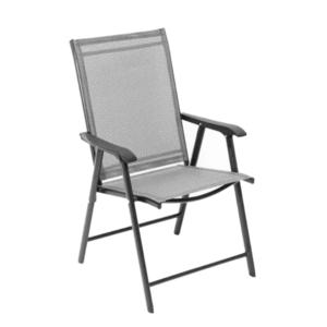 Skladacia zahradná stolička, sivá, Adola vyobraziť