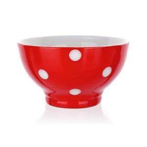 Banquet Miska keramická 13 cm, červená s bodkami vyobraziť