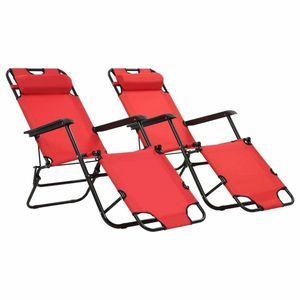 Skladacia plážová stolička látková Červená vyobraziť
