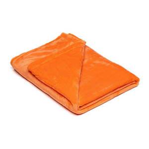 Oranžová mikroplyšová deka My House, 150 × 200 cm vyobraziť