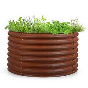 Blumfeldt Rust Grow, vyvýšený záhon, záhradný záhon, pozinkovaný oceľový plech, hrdzavá úprava vyobraziť