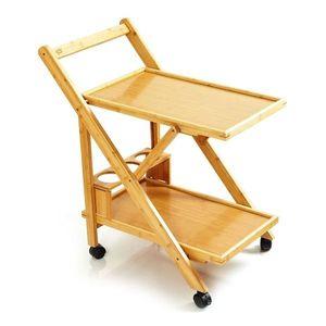 Blumfeldt Servírovací vozík, 2 police, 4 kolieska, 66x70x40, 5 cm (ŠxVxH), bambus vyobraziť