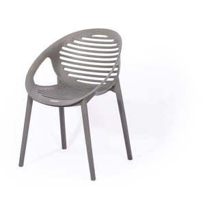Sivá stohovateľná záhradná stolička Le Bonom Joanna vyobraziť