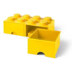 Žltý úložný box s dvoma zásuvkami LEGO® vyobraziť