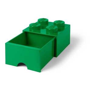 Zelený úložný box so zásuvkou LEGO® vyobraziť