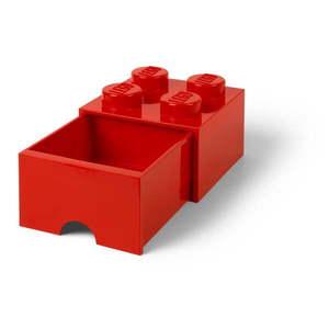 Červený úložný box so zásuvkou LEGO® vyobraziť