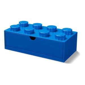 Modrý stolový box so zásuvkou LEGO®, 31 x 16 cm vyobraziť
