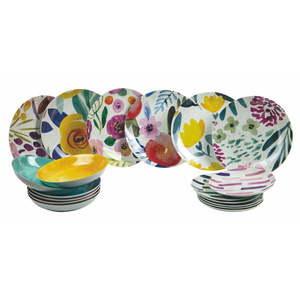 18-dielna súprava tanierov z porcelánu a kameniny Villa d'Este Arte vyobraziť