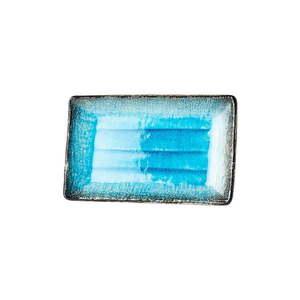 Modrý keramický servírovací tanier Mij Sky, 21 x 13, 5 cm vyobraziť