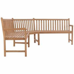 Rohová záhradná lavice teak Dekorhome vyobraziť