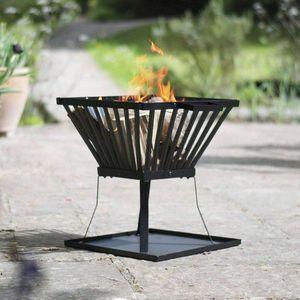 Prenosné ohnisko čierna Dekorhome vyobraziť