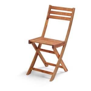 Skladacia záhradná stolička z akáciového dreva Le Bonom Natur vyobraziť