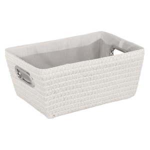 Biely košík Wenko Chromo, šírka 28 cm vyobraziť