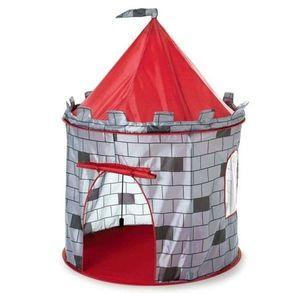 Dětský stan rytířský hrad šedý vyobraziť