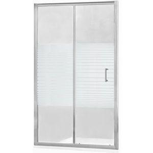 MEXEN - Apia posuvné sprchové dvere 140 cm dekor, chróm 845-140-000-01-20 vyobraziť