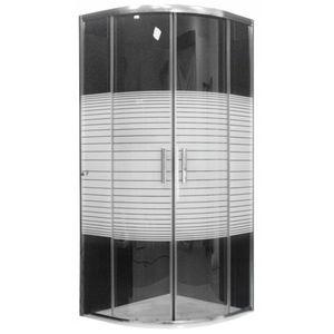 MEXEN - Rio Sprchový kút 80x80 cm, sklo prúžky, chróm 863-080-080-01-20 vyobraziť