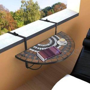 Závesný polkruhový stôl na balkón vyobraziť