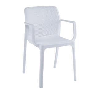 Stohovateľná stolička, biela/plast, FRENIA vyobraziť