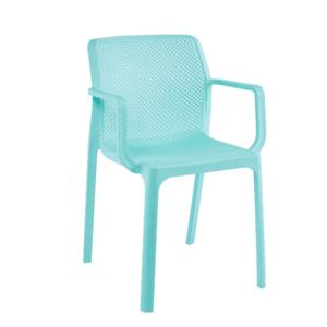 Stohovateľná stolička, mentolová/plast, FRENIA vyobraziť