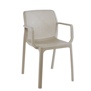 Stohovateľná stolička, sivohnedá taupe/plast, FRENIA vyobraziť