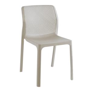 Stohovateľná stolička, sivohnedá taupe/plast, LARKA vyobraziť