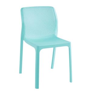 Stohovateľná stolička, mentolová/plast, LARKA vyobraziť