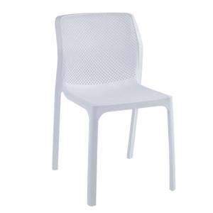 Stohovateľná stolička, biela/plast, LARKA vyobraziť