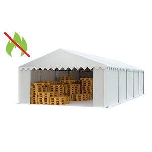 Skladový stan 5x10 biela EKONOMY vyobraziť