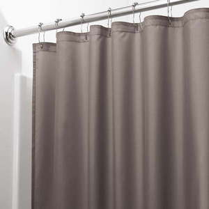 Hnedý sprchový záves iDesign, 200 x 180 cm vyobraziť