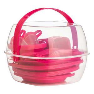 Pikniková sada Premier Housowares Hot Pink, 51 ks vyobraziť