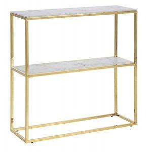 Konzolový stolek Alisma mramor bílý/zlatý vyobraziť
