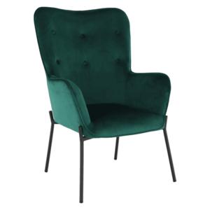 Dizajnové kreslo, smaragdová Velvet látka, SURIL vyobraziť
