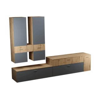 Obývacia stena, dub wotan/antracit, PLASMA vyobraziť