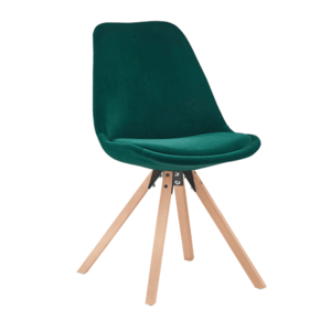 Jedálenská stolička SABRA látka / drevo Tempo Kondela Smaragdová vyobraziť