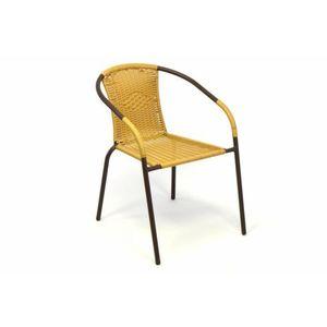 Záhradná bistro stolička – stohovateľná, béžová vyobraziť