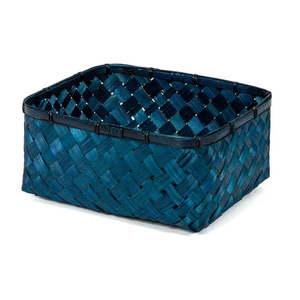 Modrý úložný kôšík z bambusu Compactor vyobraziť