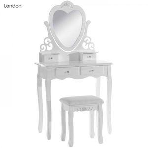 Toaletný stolík s taburetkou vyobraziť