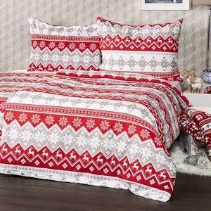 4Home Bavlnené obliečky Red Nordic, 140 x 200 cm, 70 x 90 cm vyobraziť